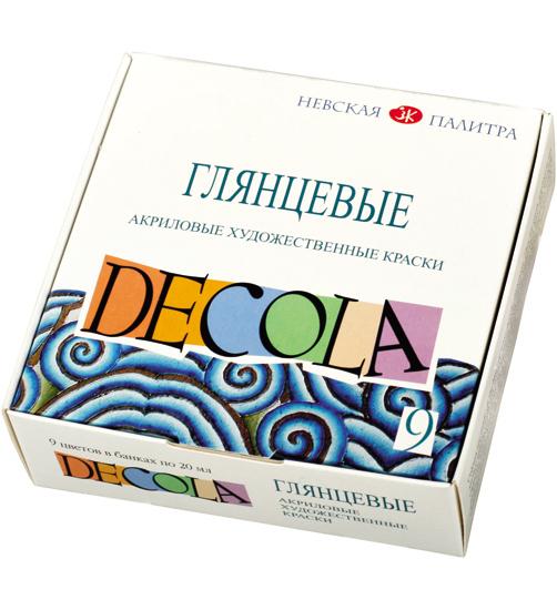 Акриловые художественные краски decola