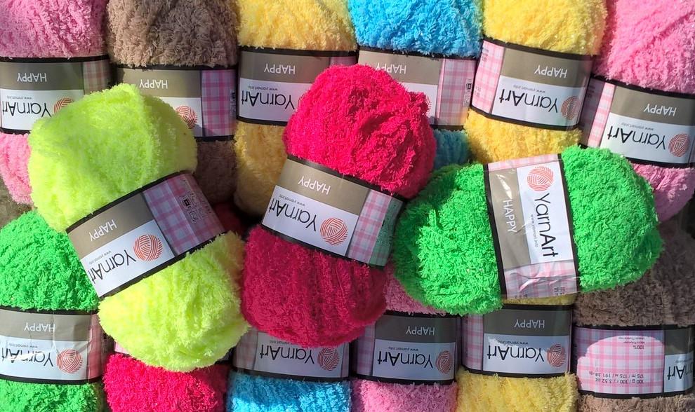 Плюшевые нитки для вязания что связать