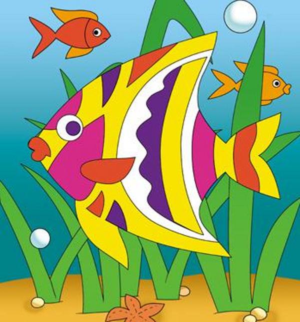купить онлайн Детское творчество, Аппликация рыбки Фантазёр в интернет магазине...