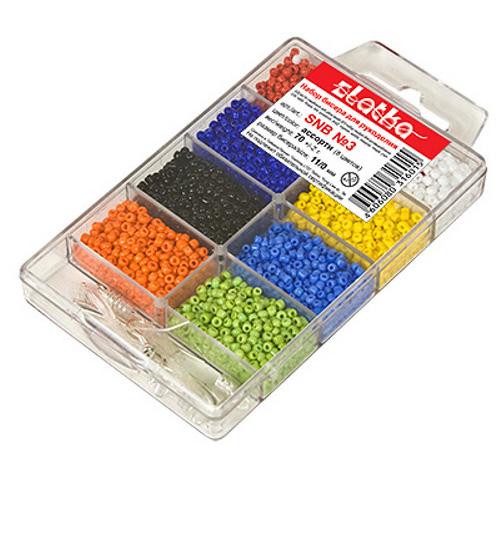 *Zlatka* набор бисера для рукоделия SNB 3 ассорти мат.крашенный с блеском.  Версия для печати.